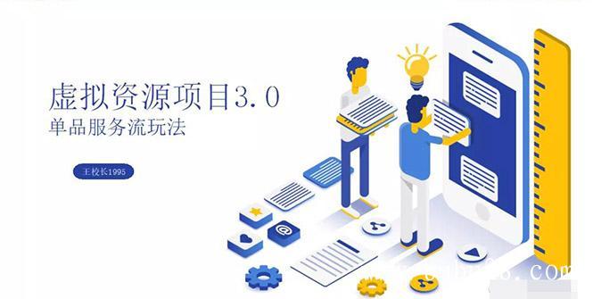 虚拟资源项目3.0(单品服务流玩法),单品利润在80元~600元左右(无水印)