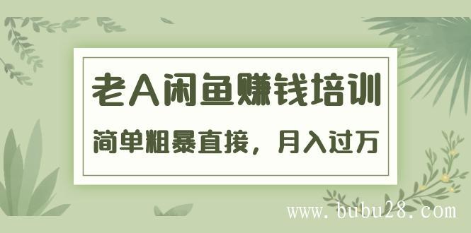 (34期)《老A闲鱼赚钱培训》简单粗暴直接,月入过万真正的闲鱼战术实课(51节课)