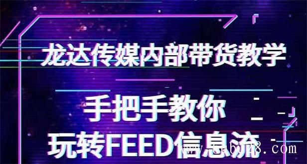 (138期)龙达传媒内部抖音带货密训营:手把手教你玩转FEED信息流,让你销量暴增