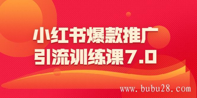 (145期)小红书爆款推广引流训练课7.0:一部手机即可操作玩转小红书引流赚钱